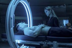 This image released by Paramount Plus shows Mark Wahlberg, left, and Sophie Cookson in a scene from 'Infinite'