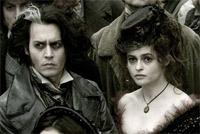 "Johnny Depp and Helena Bonham Carter in ""Sweeney Todd"""