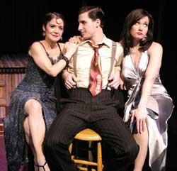 Kathy St. George as Corrina, Ariel Heller as Mitch, and Aimee Doherty as Lureena.
