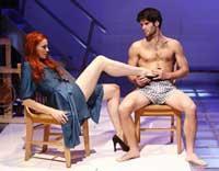 "Nicole LaLiberte and Asher Grodman in ""Artfuckers."""
