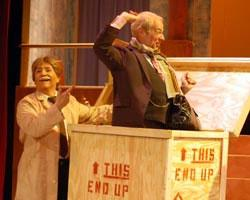 "Jackie L. Kemp as Mr. Mash and Jon Morehouse as Mr. Humphries in ""Are You Being Served?"""