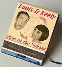 "The ad for ""Louis and Keely Live at the Sahara."""