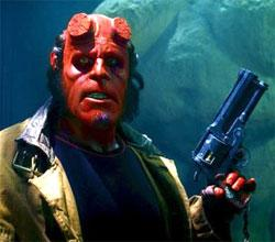 "Ron Perlman in ""Hellboy II."""