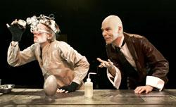 Adam Shalzi as Dr. Egg and Dominic Greene as the Narrator