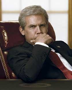 "Josh Brolin as George W. Bush in Oliver Stone's ""w."""