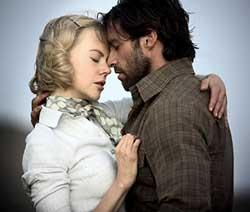 "Nicole Kidman and Hugh Jackman in Baz Luhrmann's ""Australia."""