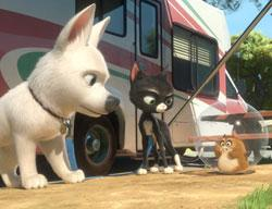 "Bolt, Mittens and Rhino play for big laughs in Disney's ""Bolt."""