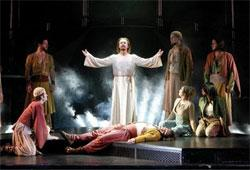 "Ted Neeley as Jesus in the touring company of ""Jesus Christ Superstar."""