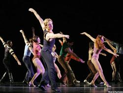 """A scene from """"A Chorus LIne,"""" at the Ford Center through May 3."""