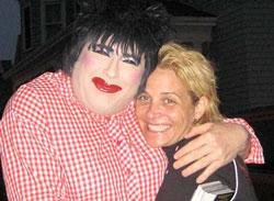 Dina Martina with director C.Fitz of ShowGirls.