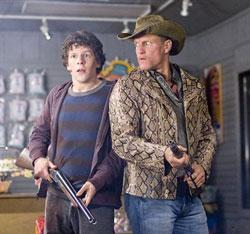 """Jesse Eisenberg, left, and Woody Harrelson are shown in a scene from, """"Zombieland."""" ("""