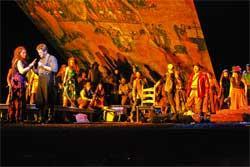 Dana Beth Miller (Carmen) and John Bellemer (Don Jose) in the BLO's Carmen.
