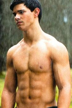 "Taylor Lautner in ""New Moon"" - can you say woof?"