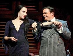 """Bebe Neuwirth and Nathan Lane in """"The Addams Family"""""""