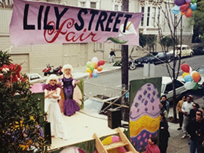 The Lily Street Fair stage in 1989
