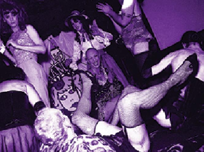 Chaos on stage at Club Uranus in April 1994