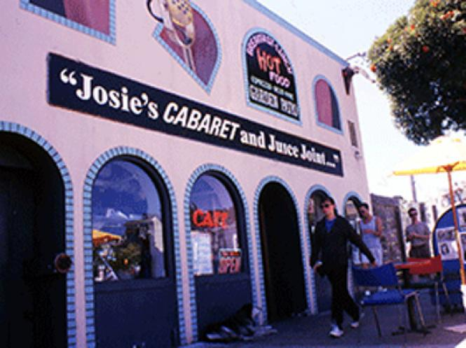 The exterior of Josie's Cabaret and Juice Joint which was at 16th and Market Streets, in late August 1998