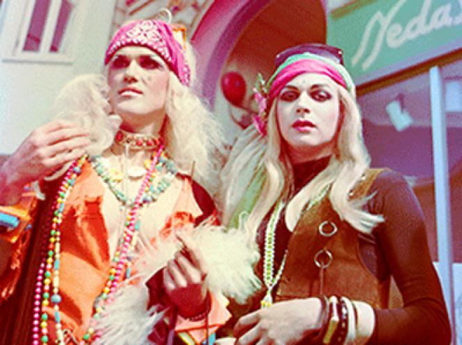 Doris Fish and Tippi at the Haight Street Fair, May 18, 1980