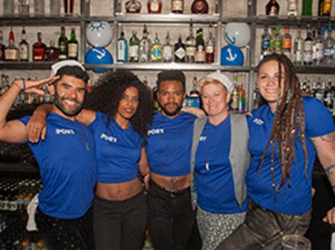 The bar staff of Port Bar