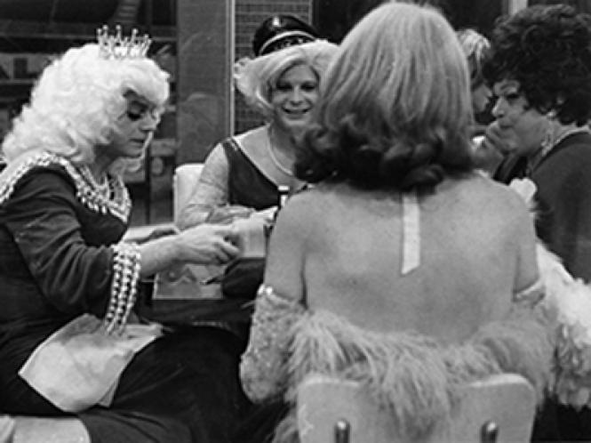 Drag queens at Compton's Cafeteria in the 1960s