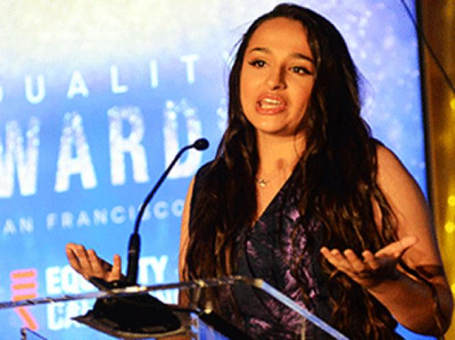 Jazz Jennings speaks at Equality California's San Francisco gala