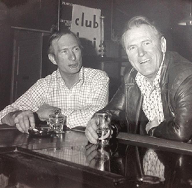 Club Dori bartender Ed Specs (left) and co-owner George Banda