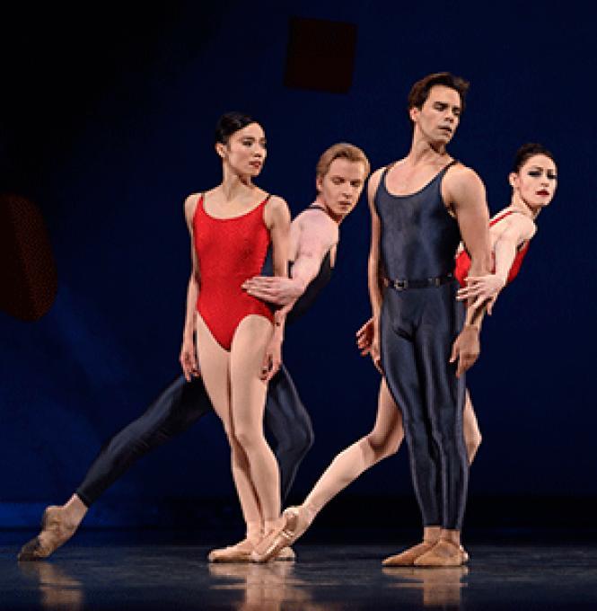 San Francisco Ballet dancers in Alexei Ratmansky&#039;s <i>Shostakovich<br>Trilogy.</i> Photo: Erik Tomasson