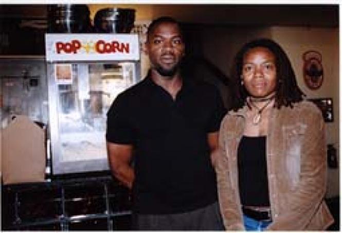 Oakland International Black LGBT Film Festival's JoeHawkins and Debra Wilson. Photo: Jane Philomen Cleland