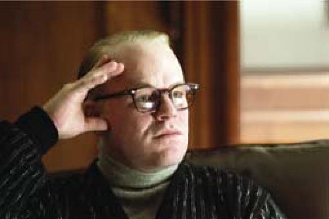 Philip Seymour Hoffman as Truman Capote (Photo: Attila<br>Dory, Sony Pictures Classics)<br><br>