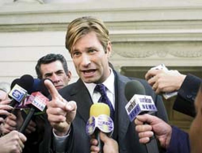 Aaron Eckhart in <i>Thank You for Smoking.</i> Photo: Dale Robinette
