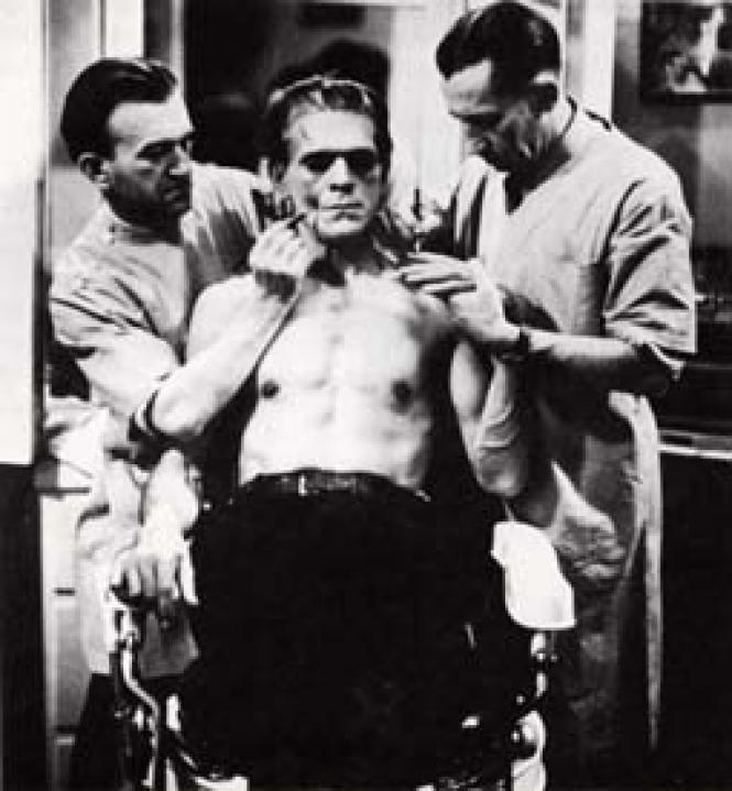 Boris Karloff as Frankenstein in 1931. Photo: Courtesy<br>Universal Studios