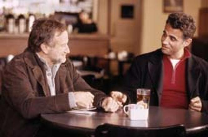 Robin Williams and Bobby Cannavale in <i>The Night Listener. </i>Photo: Anne Joyce, courtesy Miramax