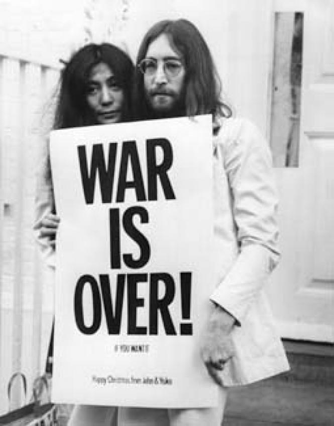 Yoko Ono and John Lennon, from <i>The U.S. vs. John<br>Lennon.</i> Photo: Getty Images