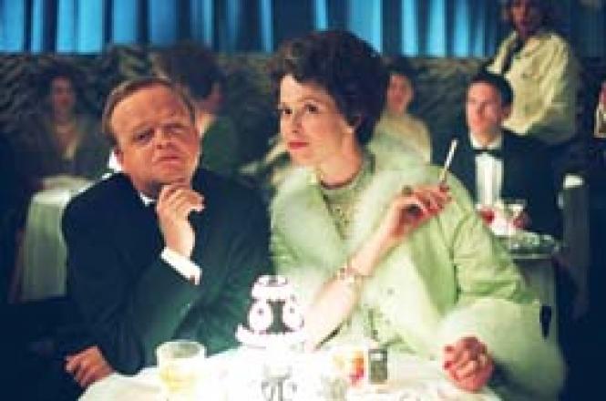 Toby Jones and Sigourney Weaver in <i>Infamous.</i><br> Photo: Courtesy Warner Bros.