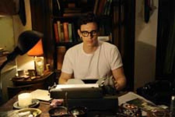 James Franco as poet Allen Ginsberg in <i>Howl</i><br>.