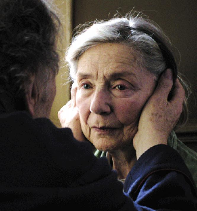 Best Actress contender Emmanuelle Riva in director<br>Michael Haneke's <i>Amour.</i> <br>Photo: Sony<br>Pictures Classics