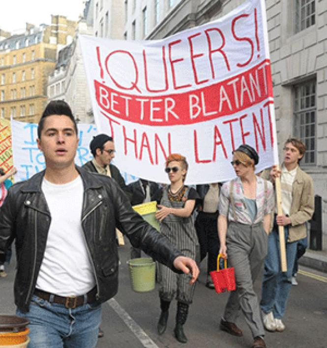 Activist Mark Ashton (Ben Schnetzer) in a scene from the<br>year's best LGBT film, <i>Pride.</i> Photo:<br>Courtesy BBC Films