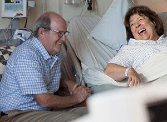Richard Jenkins and<br>Margo Martindale as Don and Sally Hollar in director John Krasinski's <i>The<br>Hollars.</i> Photo: Jonny Cournoyer,<br>Courtesy of Sony Pictures Classics