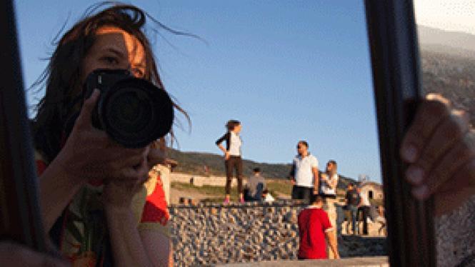 Kirsten Johnson with her camera in <i>Cameraperson.</i><br> Photo: Majlinda Hoxha