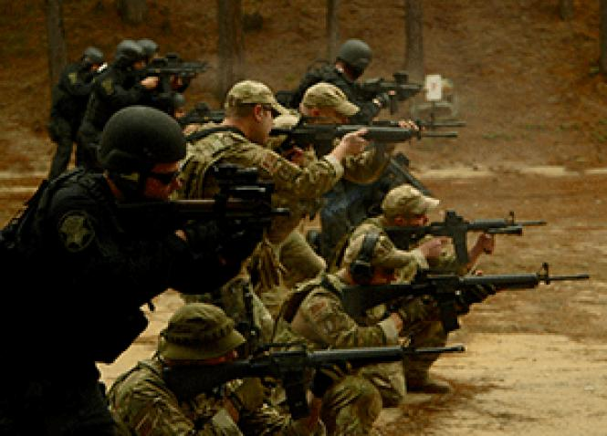 The Richland County Sheriff's Department Special Response Team conducts basic SWAT training in director Craig Atkinson's <i>Do Not Resist.</i> Photo: Courtesy of Vanish Films