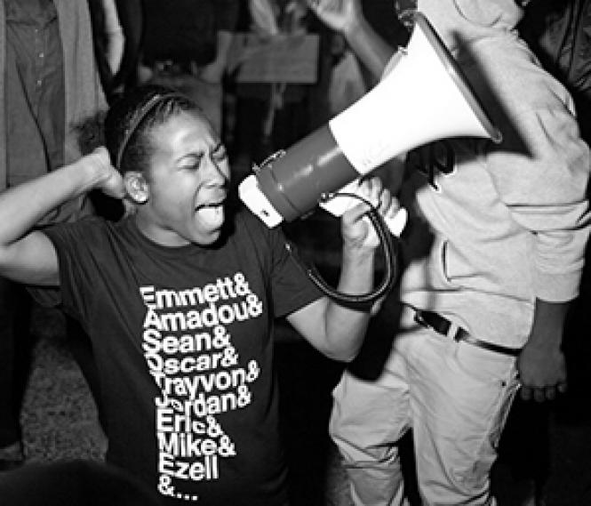 """Scene from filmmakers Sabaah Folayan and Damon Davis' """"Whose Streets?"""" Photo: Magnolia Pictures"""