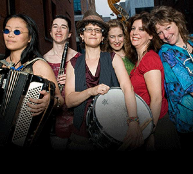 "Eve Sicular (center) leads lesbian Klezmer band Isle of<br />Klezbos.""/></a></p> <h2>College Roommates – Webcam Lesbian Experience</h2> <p><iframe height=481 width=608 src="