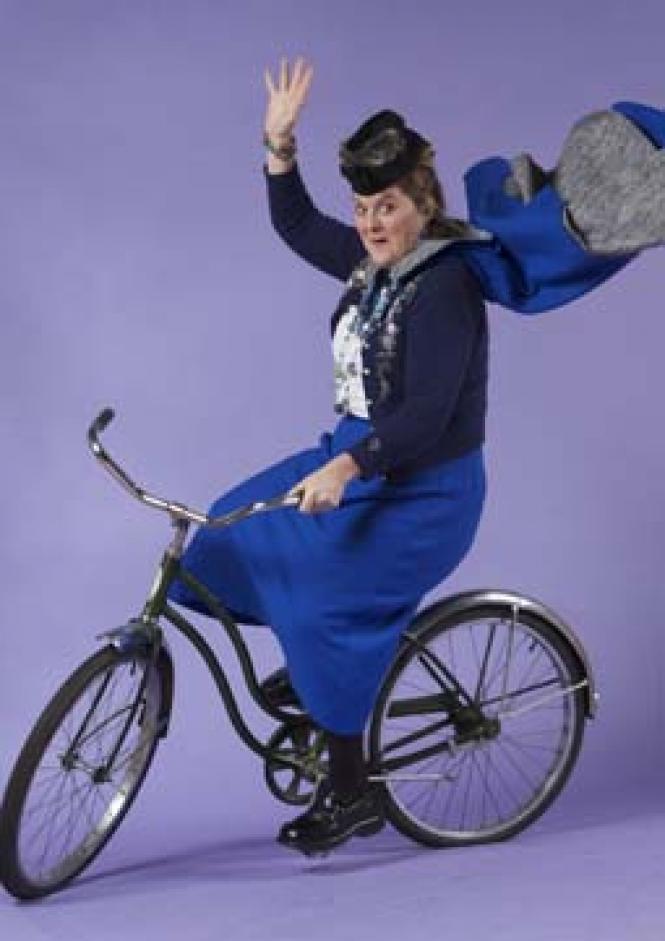 Megan Cavanagh as Madame Arcati in <i>High Spirits.</i><br> Photo: David Allen