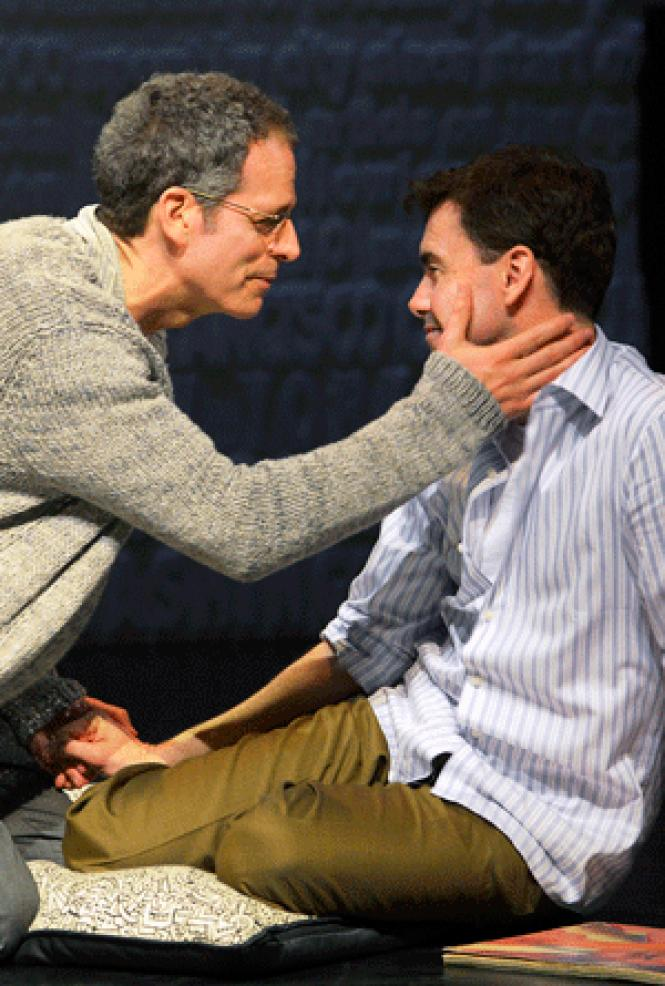 In Larry Kramer's <i>The Normal Heart,</i><br> Kramer alter ego Ned Weeks (Patrick Breen, left)<br>comforts his ailing lover (Matt McGrath) as the early days of the AIDS epidemic<br>are recreated in ACT's revival of the 1985 play. <br>(Photo: Kevin Berne)
