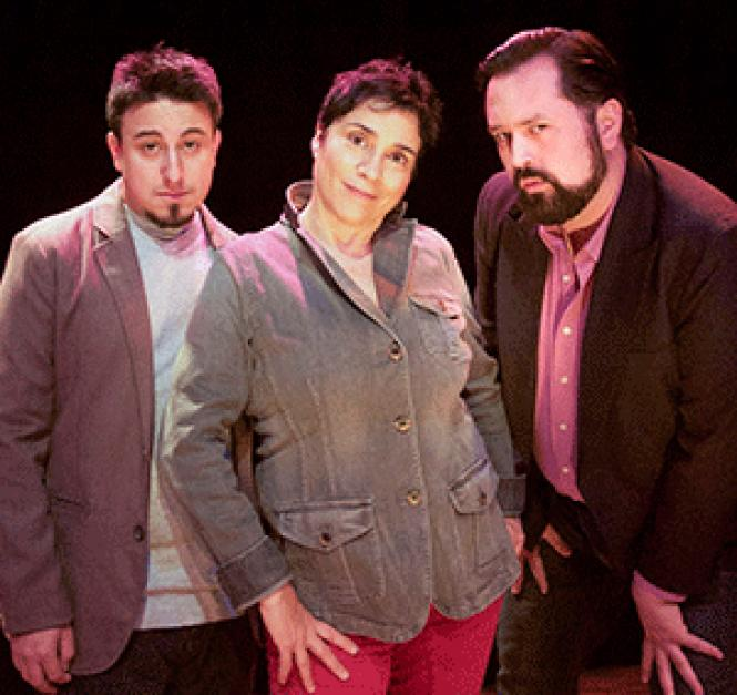 Chris Storin, Marga Gomez and Baruch-Porras Hernandez are<br>part of the lineup at the 4th Annual Brava's New Year's<br>Eve <i>Comedy Fiesta: Latino Power Edition.</i> Photo: Anastacia Powers Cuellar