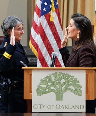 Bay Area Reporter :: Kirkpatrick sworn in as Oakland police