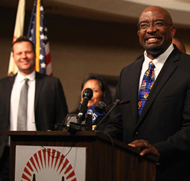 Vincent Matthews has been appointed to lead the San<br>Francisco Unified School District. Photo: Kelly Sullivan