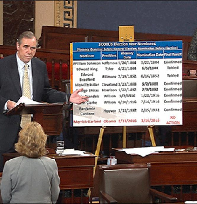 Senator Jeff Merkley (D-Oregon) talked on the Senate<br>floor all night Tuesday in a run-up to an expected Filibuster Thursday. Photo:<br>Courtesy AP