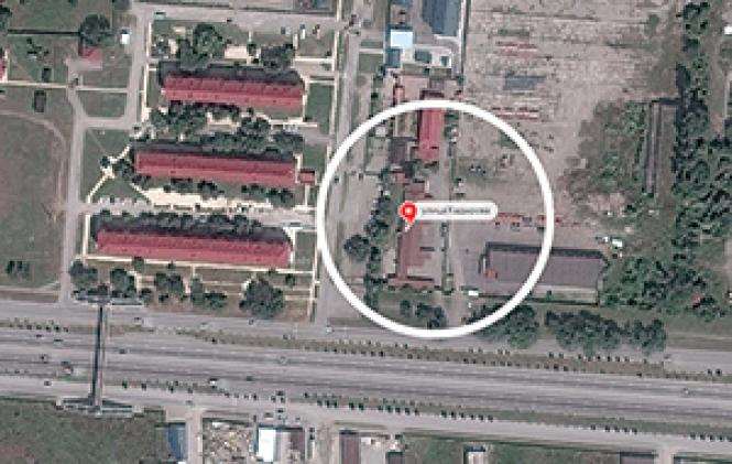 The site of an alleged gay internment camp at Argun, a<br>former military commandant&#039;s office in Chechnya. Photo: Google Maps