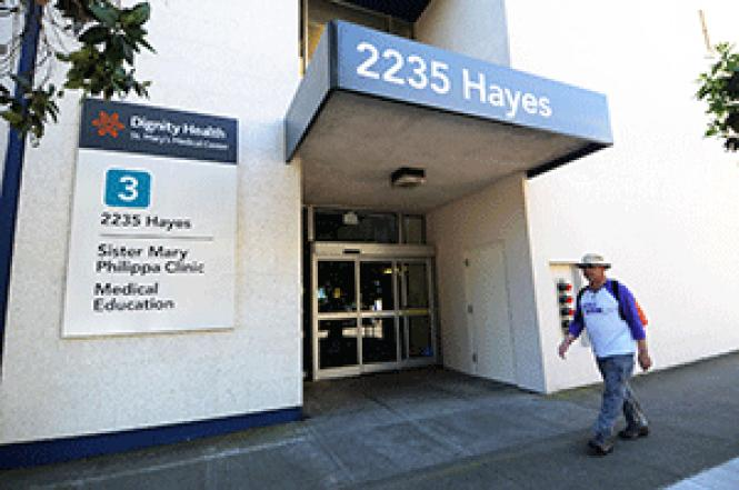 The staffing at the HIV clinic at San Francisco&#039;s St.<br>Mary&#039;s Hospital will change later this month. Photo: Rick Gerharter.